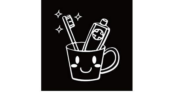 YSFU Pegatinas de pared Pasta De Dientes Y Cepillo De Dientes Aseo Pegatina Vinilo Arte Tatuajes De Pared Decoración para El Hogar Wallpaper Decoración De ...
