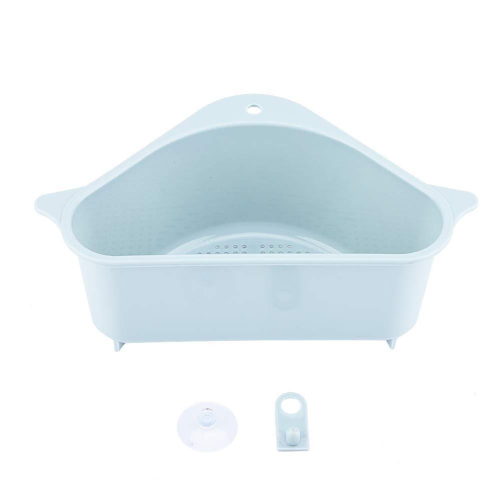 Panier d/évier support de stockage triangulaire /étag/ère de drainage multifonctionnel Sucker support de stockage d/évier rack de support de vidange pour cuisine salle de bain Beige