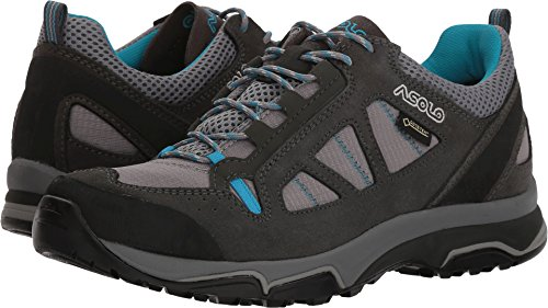 Asolo Megaton GV Hiking Shoe - Women's - 6.5 - Graphite Stone/Cyan Blue