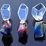 Gem Stone Crystal Mold Silicone Candle Molds 3 Shapes Large Size Resin Stone Mold for Jewelry Making,...