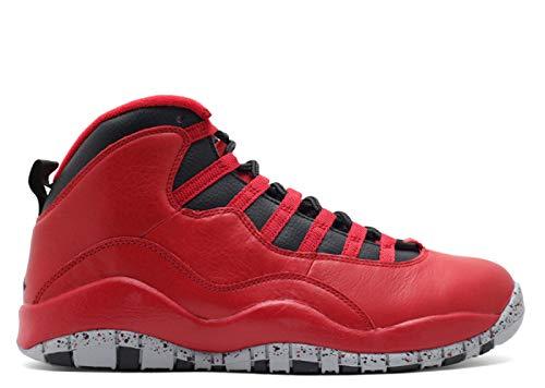 漂流切り下げおばあさんナイキ(NIKE) Air Jordan 10 Retro 30TH Bulls Over Broadway 705178-601 レッド (US11.5(29.5cm)) [並行輸入品]