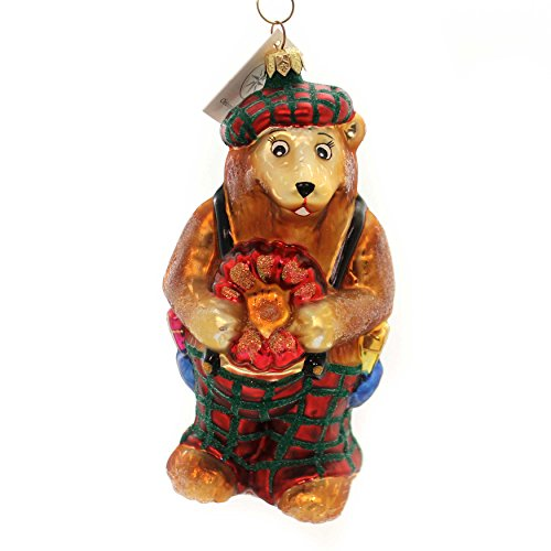 - Christopher Radko Bearing Hearts Glass Teddy Bear Christmas 981160