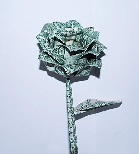 Amazon.com: origami money rose paper flower real dollar bill ... | 500x454