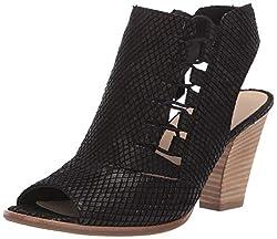 Paul Green Women S Sabrina Sndl Heeled Sandal Black Snake 8 5 M Us
