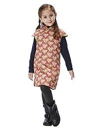 Handmade Girls Cotton Dress Overcoat Chinese Cheongsam Qipao Kids Clothing #207