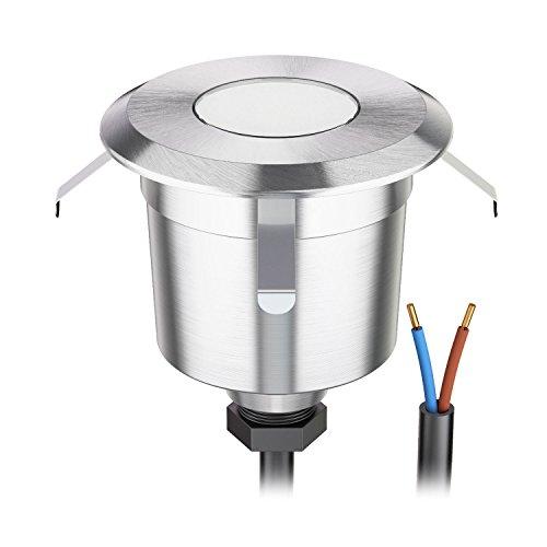 parlat LED Boden-Einbauleuchte für außen, warm-weiß, 7lm, IP65, 230V, 60mm Ø