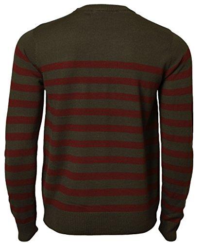 Dissident Herren Sweatshirt mit Streifen Rundhals Pullover IA 1547 Raven grau Gr. S