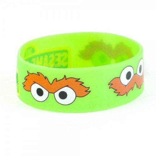 [Sesame Street Oscar the Grouch Face Rubber Bracelet Wristband] (Oscar Sesame Street Costume)