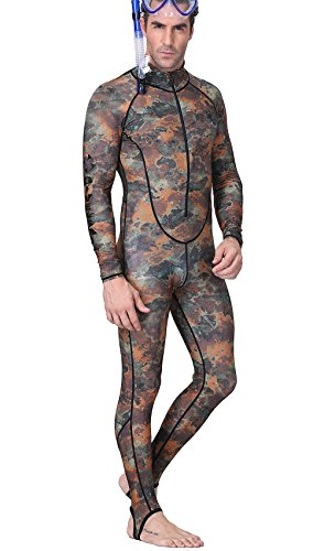 Diver Suit Costume (Diving Skin , DIVE & SAIL Full Length Swimming Costume Long Sleeve Pants for Men Water Sports 3XL)