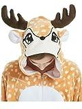 Adult Onesie for Women Plus Size Halloween Costumes Men Teens Deer Animal Pajama