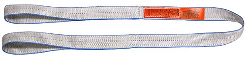 Lift-All Company EE2801TFX6 Tuff-Edge Web Sling, Flat Eye and Eye, 2-Ply, 1