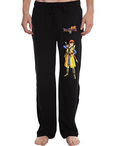Tower Tai Chi (XJX Men's heropose Dragon Warrior VII Lounge Pajama Pants M Black)