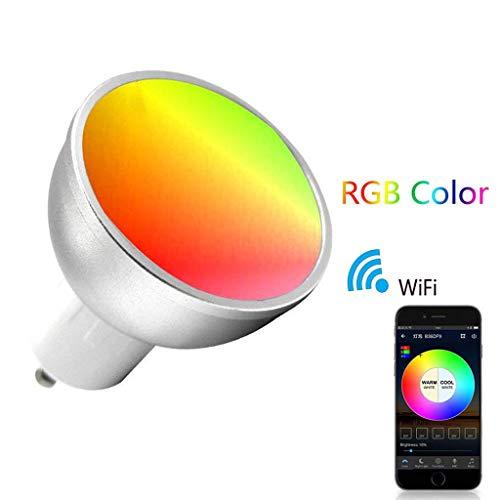 Euone  Smart Bulb Clearance Sale , GU10 Smart LED Bulb 5W Dimmable WiFi Light Bulb Colorful Wireless App Controlled