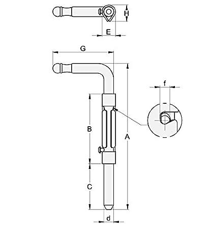Verrou baionnette H240 platine /à souder