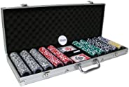 Brybelly 500 Ct Eclipse Poker Chip Set with Aluminum Case 14gm Chips