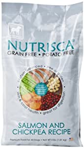 Dogswell Nutrisca Dog Food, Salmon and Chickpea, 4-Pound Package