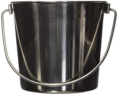 Advance Pet Products Heavy Stainless Steel Round Bucket, 4-Quart
