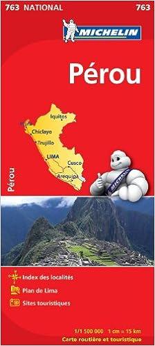 Télécharger en ligne Carte Nationale Pérou - N°763 -echelle 1/1500000 pdf epub