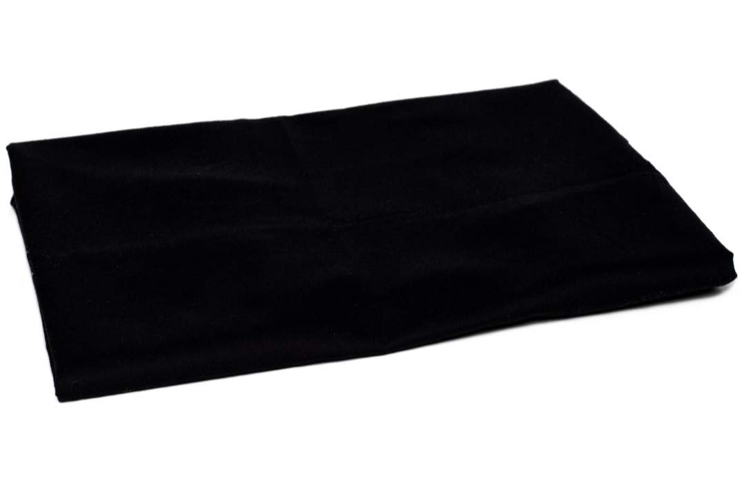 American Pillowcase Twin - Twin XL Flat Sheet Only - 100% Brushed Microfiber - Pieces Sold Separately for Set Guarantee (Black)