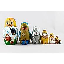 Matryoshka The Wonderful Wizard of Oz Matrioshka Russian Nesting Doll Babushka set 7 pc