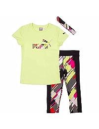 Puma Girls 3-Piece T-Shirt, Capri & Matching Headband