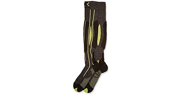 X-Socks de Running Effektor Juego de esquís Man, Grey/Black/Lime: Amazon.es: Deportes y aire libre