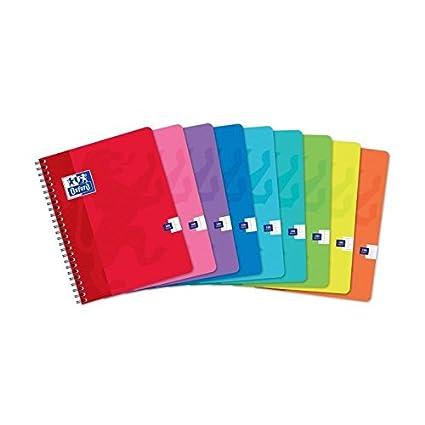 Oxford – Cuaderno tamaño A4 con espiral 17 x 22 cm – 180 páginas