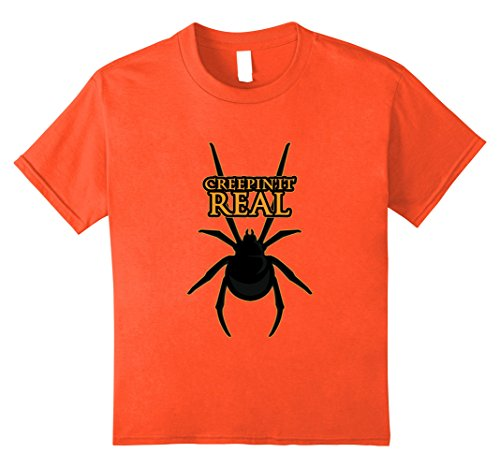 Kids Scary Halloween Spider Shirt Kids Men Women Costume TShirt 8 Orange