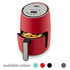 Enjoy your favorite fried foods without the guilt when using the Dash Digital Compact Air Fryer. Air rapidly circulates to cook ingredients and keep the signature crispy quality of fried foods, while eliminating the need for oil. Air frying r...