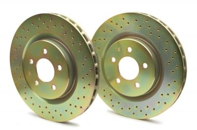 Brembo 33S50217 Drilled Brake Rotor - Brembo Sport Cross Drilled Brake