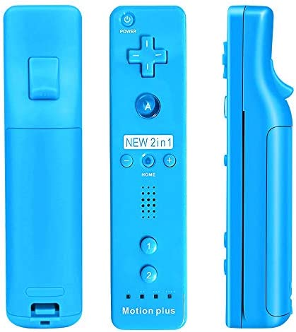 CooleedTEK Wii Remote Controller, Remote Plus Controller and Nunchuk Controller for Nintendo Wii and Wii U, with Silicon Case (Blue) 4