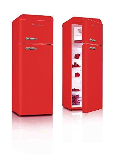 Retro Kühlschrank Feuerrot Glanz A++ Kühl Gefrierkombi Schaub Lorenz