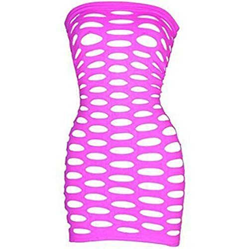 LoveFifi Women's Light Neon Queen Tube Dress,Pink one Size -