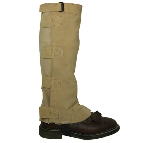 Intrepid International Deluxe Suede Half Chaps, Taupe, Medium