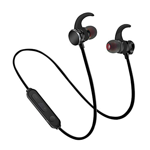 Bluetooth Headphones, QDTT Wireless Headphones Bluetooth 5.0 7-Hour Playtime IPX7 Waterproof Magnetic Connection Wireless Earbuds,Bluetooth Earphones for Sports, Exercise, Running, Gym with Mic