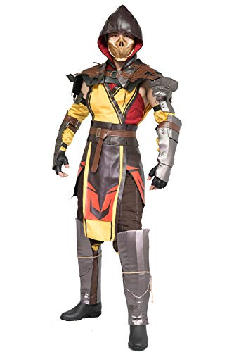 Scorpion Cosplay Costume Adults MK 11 Halloween Unifrom Suit -