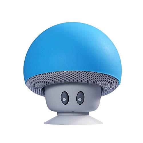 Sudroid Mushroom Mini Wireless Portable Bluetooth 4.1 Speakers with Mic for Smartphones (Blue)
