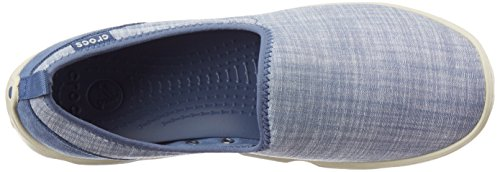 Crocs Womens Busy Day Chambray Skimmer Loafer Shoes Bijou Blue / Stucco FZIa8