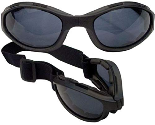 hersrfv clothing Us Military Army Marines USMC Airsoft Tactical Black Collapsible Safety Goggles
