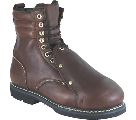 Metguard Golden Leather Mens Pitstop 9D 8in Brown Retriever Boots Work TAZR8Tr