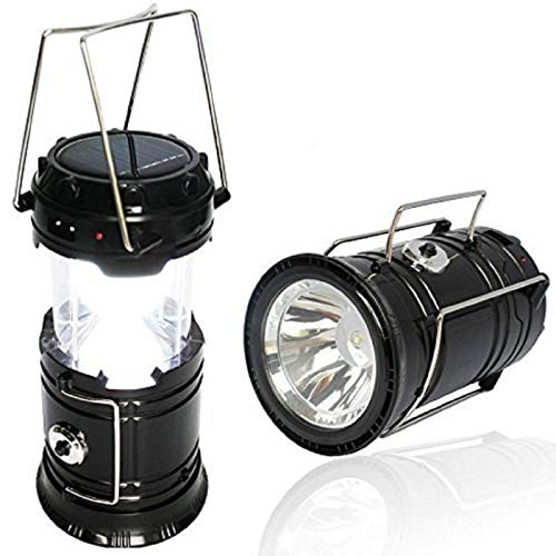 BMG LED Rechargeable Solar Emergency Plastic Light Lantern with USB Mobile Charging, Torch Point, 2 Power Source Solar and Lithium Battery Assorted