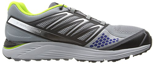 Salomon Mens X-Wind Pro Running Shoe Pearl Grey/Black/Granny Green lnosFKy