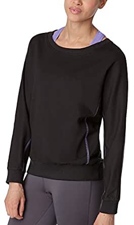 Fila Women's Dolman Sleeve Vintage Athletic Sweatshirt, Black, M