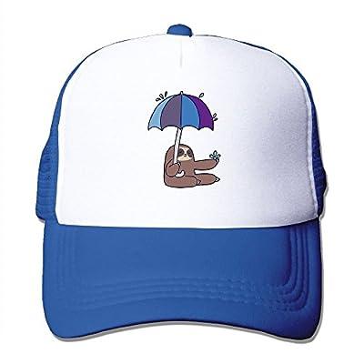Cute Sloth Adjustable Snapback Baseball Cap Custom Mesh Trucker Hat from Huishe1