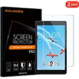 [2-Pack] Aolander LenovoTabE8 Screen Protector, [2.5D Round Edge] [9H Hardness] [High Definition] [Bubble Free] Tempered Glass Screen Protector for LenovoTabE8 2018