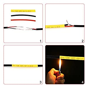 Heat Shrink Tubing 532pcs innhom Ratio 2:1 Insulation Protection Flame Retardant Heat Shrink Tube Sleeving Wrap Car Electrical Cable Wire Kit Set in a clear plastic box