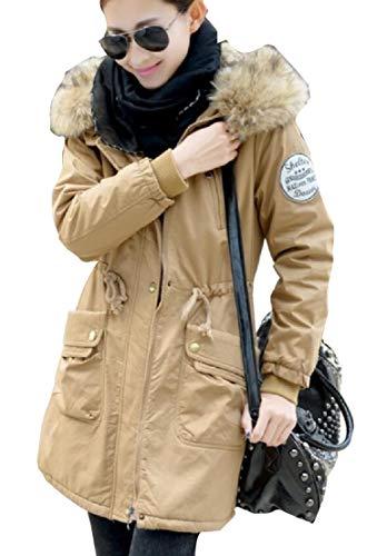 Cappotto Pile Ttyllmao Lungo pelliccia Esterno Caldo Parka Donne Foderata Di Giacca Rosso In Eco x7xarwvX