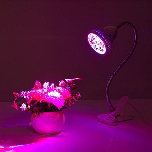 [해외]LED 성장 빛, Hgrope 7W 3 밴드 수경 정원 온실에 대 한 360도 유연한 목 LED 클립 책상 램프/LED Grow Light,Hgrope 7W 3 Bands LED Clip Desk Lamp with 3