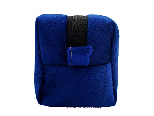 Khooti Multipurpose Velvet Pencil Case Cum Pencil Pouch Organiser (Navy Blue)