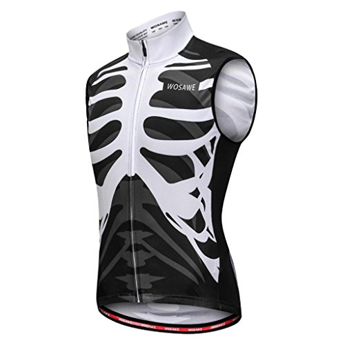 (Prettyia Men Women Sleeveless Vest Cycling Jersey Shirt Bicycle Bike T Shirt Comfortable Cycling Jersey with Reflective Stripes for Safety Night Cycling/Running/Walking - S)